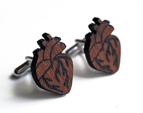 Anatomical heart cuff links - $27.10