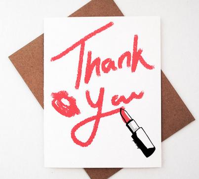 Lipstick Thank You - $5