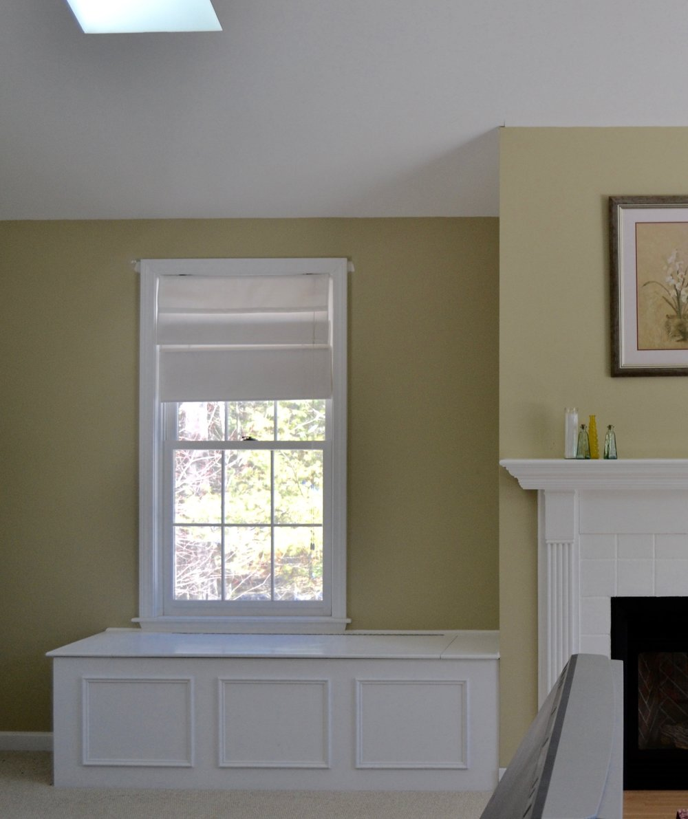 Before: The alcove was painted the same color as the rest of the room.