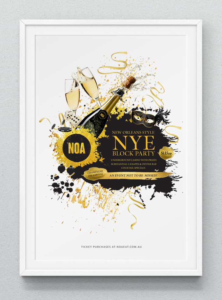 NEW WORK: NOA NYE Poster — Jay Tweedie Creative