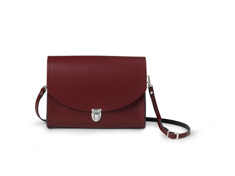 Patent Oxblood Large Push Lock WAS $145 NOW $102