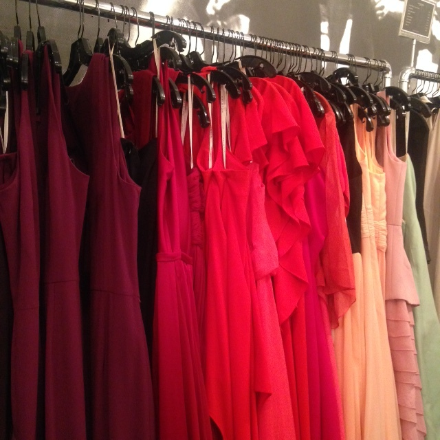 Evening gowns are $60 at the Halston Heritage sample sale.