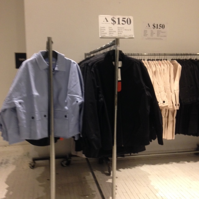 the arrivals sample sale.JPG