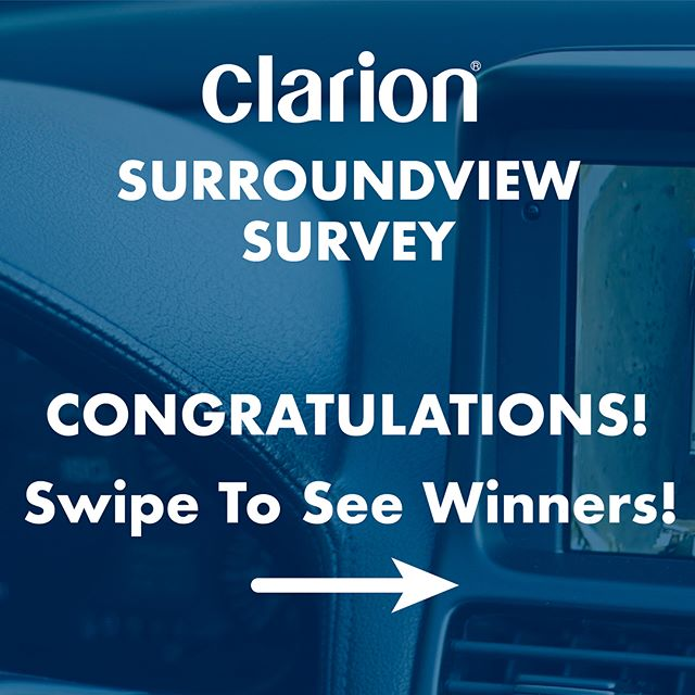 Congratulations to winners from our #SurroundView #Survey and thank you to everyone who participated. Didn't win? We're releasing a new survey this Friday with the same great prizes! Turn on Post Notifications now!
