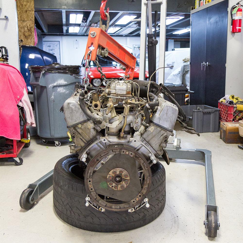 380SLC Engine Removal