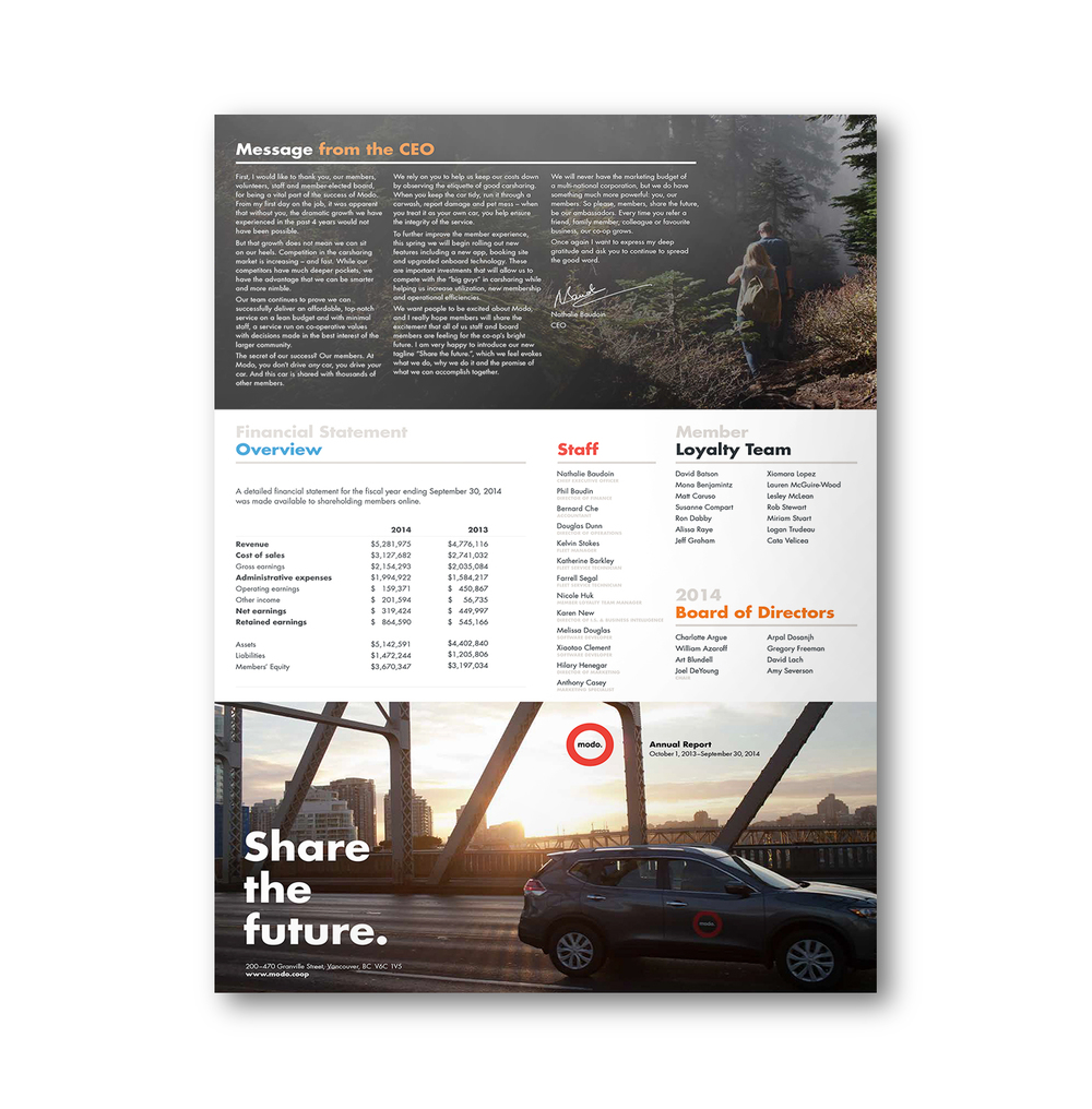 large format annual report