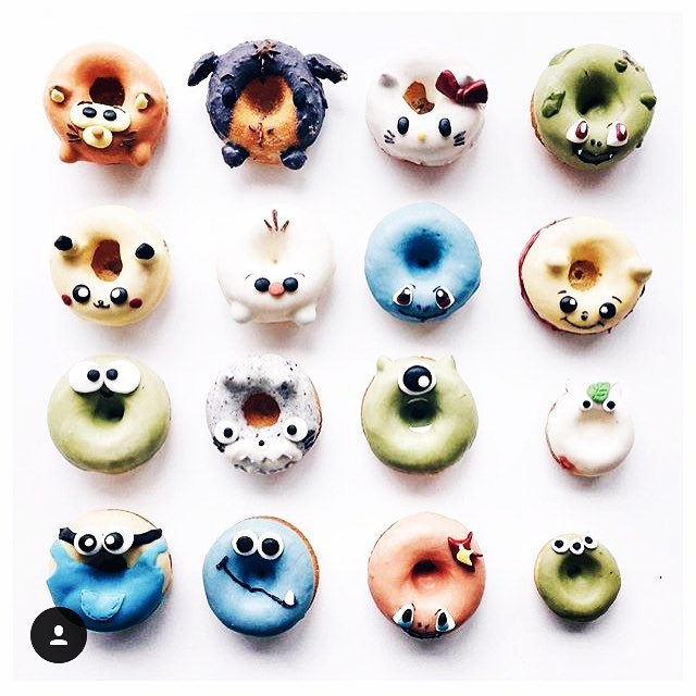 One of the best donut line-ups I've seen in awhile 🍩🍫🍦🐱🐹🐼🐻🐷🐸 regram from @lichipan