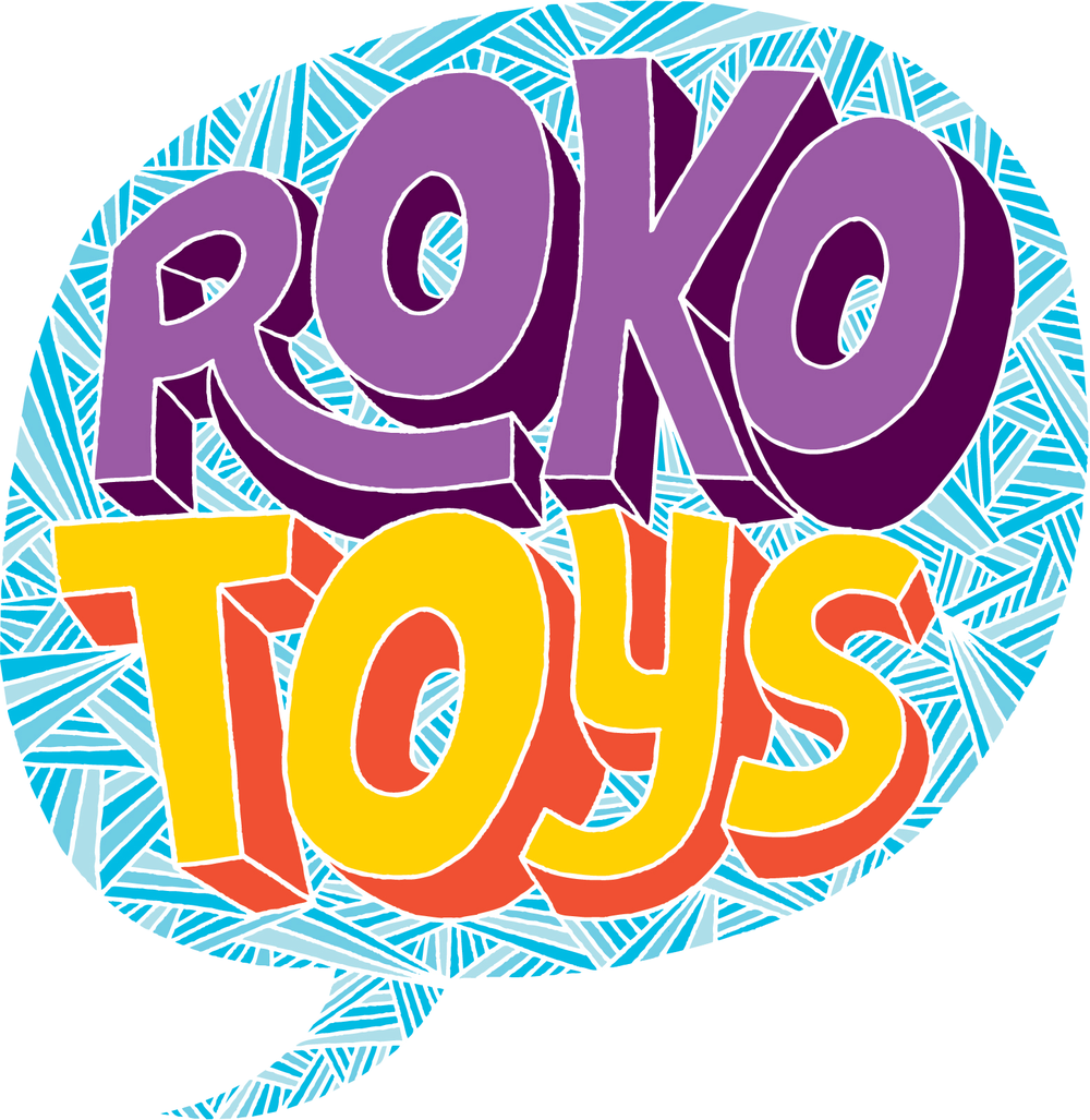 I really love my Roko Toys logo that was designed by Chris Piascik and I contemplated commissioning another logo for Rokotype, using the same shape and colour palette….but ultimately I decided to do something different, something a bit more professional but still fun. What do you think?    rokotype.com