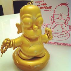 homer buddha kidrobot gold