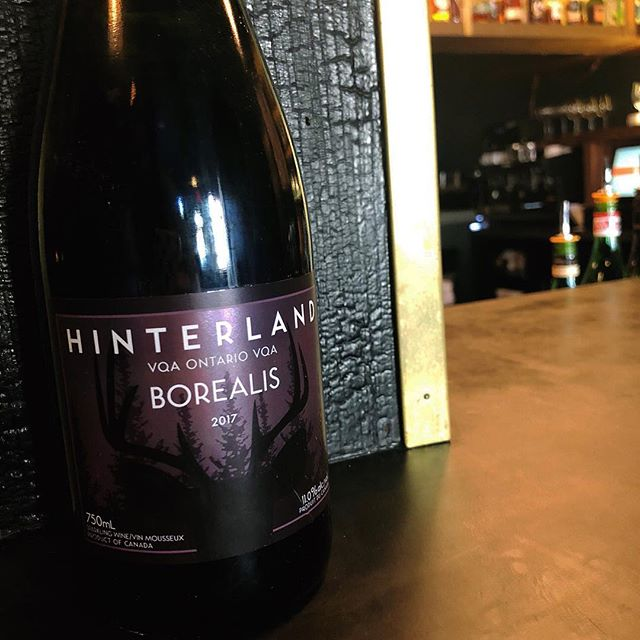 doing our best to make this Monday feel more like a weekend in Prince Edward County 🕶 our patio is open and this gamay noir sparkler is available by the glass