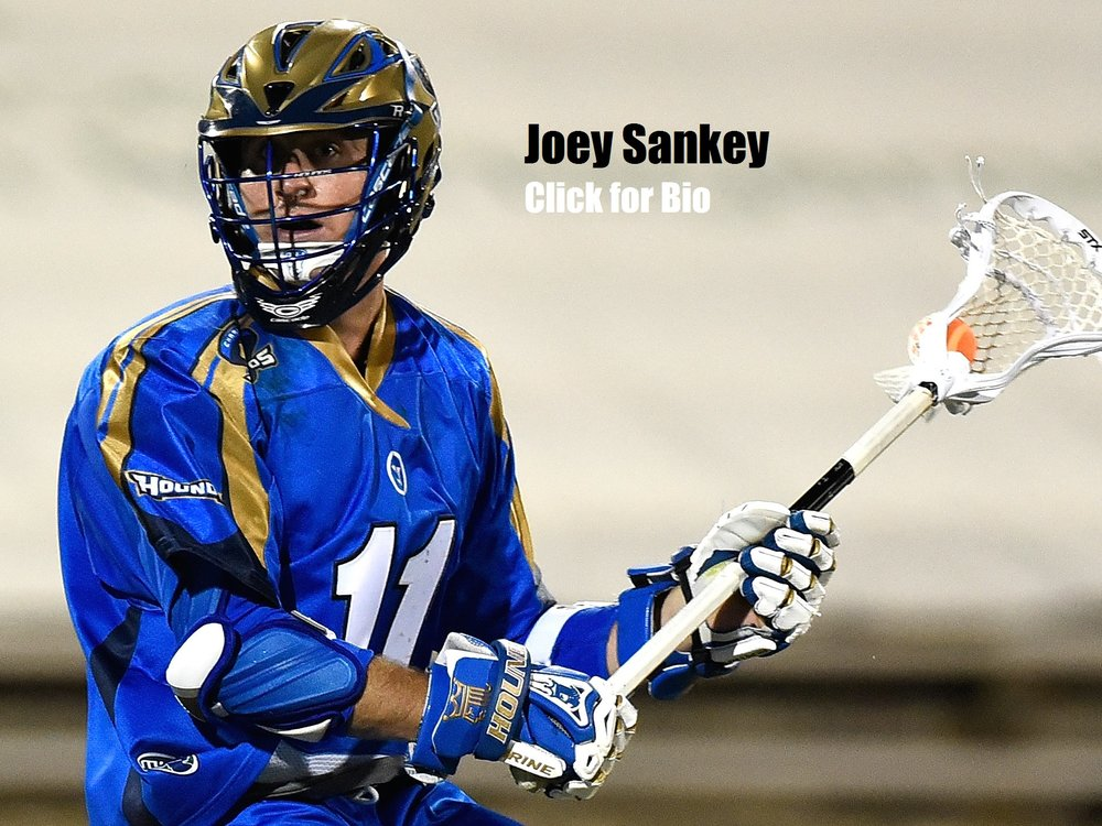 Joey Sankey  UNC All-Time Points Leader 3x All American MLL Rookie of the Year 2x MLL All-Star