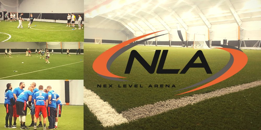 The indoor field at Nex Level Arena (NLA) has been engineered to handle everything from recreational practice to high level pro development. NLA has installed a new advanced 80-yard field turf system. Other indoor arena developments include viewing expansion, reinforced safety walls, advanced video/audio systems, pro shop, and health food grille.