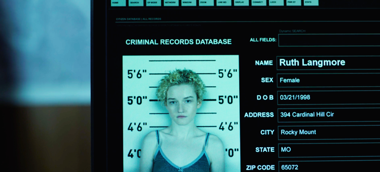 Mug shot was photoshopped to create character of Ruth played by Julia Garner