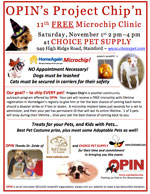 free pet microchip