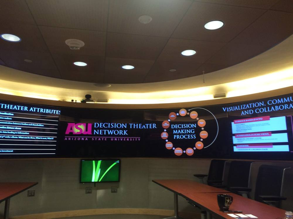 The Decision Theater at The McCain Institute. If you have been to Decision Theater North, you might feel like you are in a familiar space.