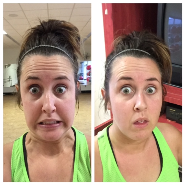 Maggie pre and post first 21 day fix workout