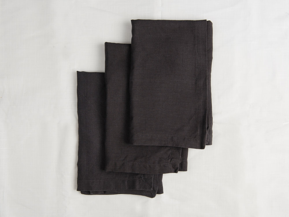 Linen Napkins - Black