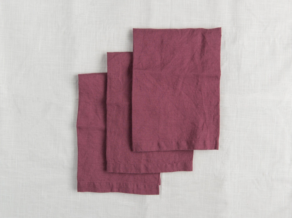Linen Napkins - Plum