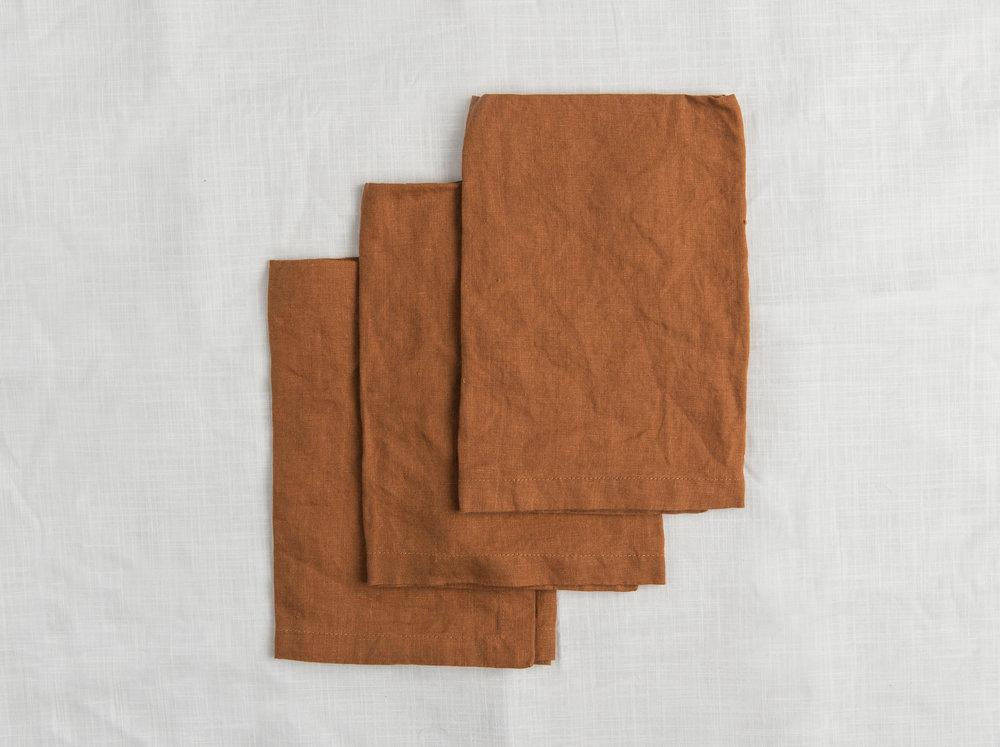Linen Napkin - Tobacco