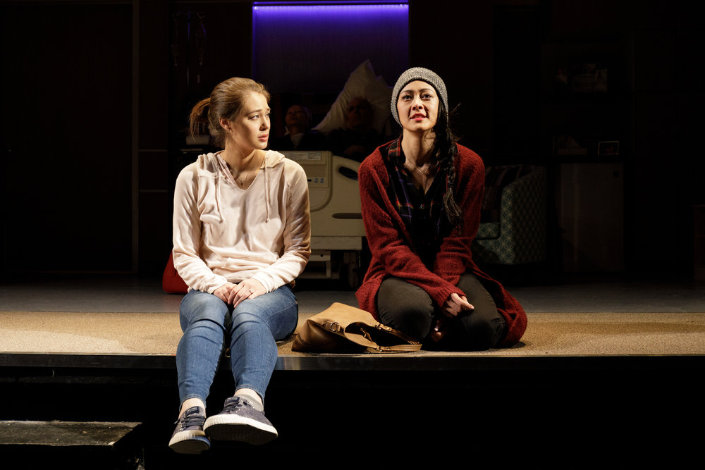 Emma Kikue and Satomi Blair in Primary Stages' production of GOD SAID THIS - Photo by James Leynse.jpg