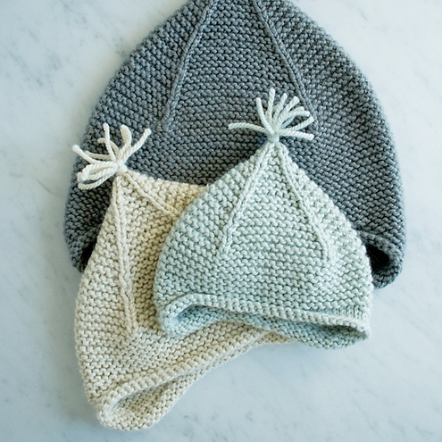 Garter Ear Flap Hat by Purl Soho Image © Purl Soho