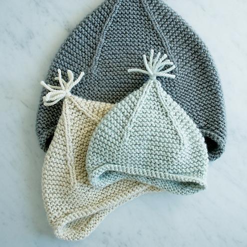 Garter Ear Flap Hat by Purl Soho Image © Purl Soho