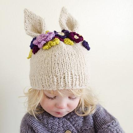 Hyzenthlay Rabbit Ears Beanie by Sheila Toy Stromberg mage ©Sheila Toy Stromberg