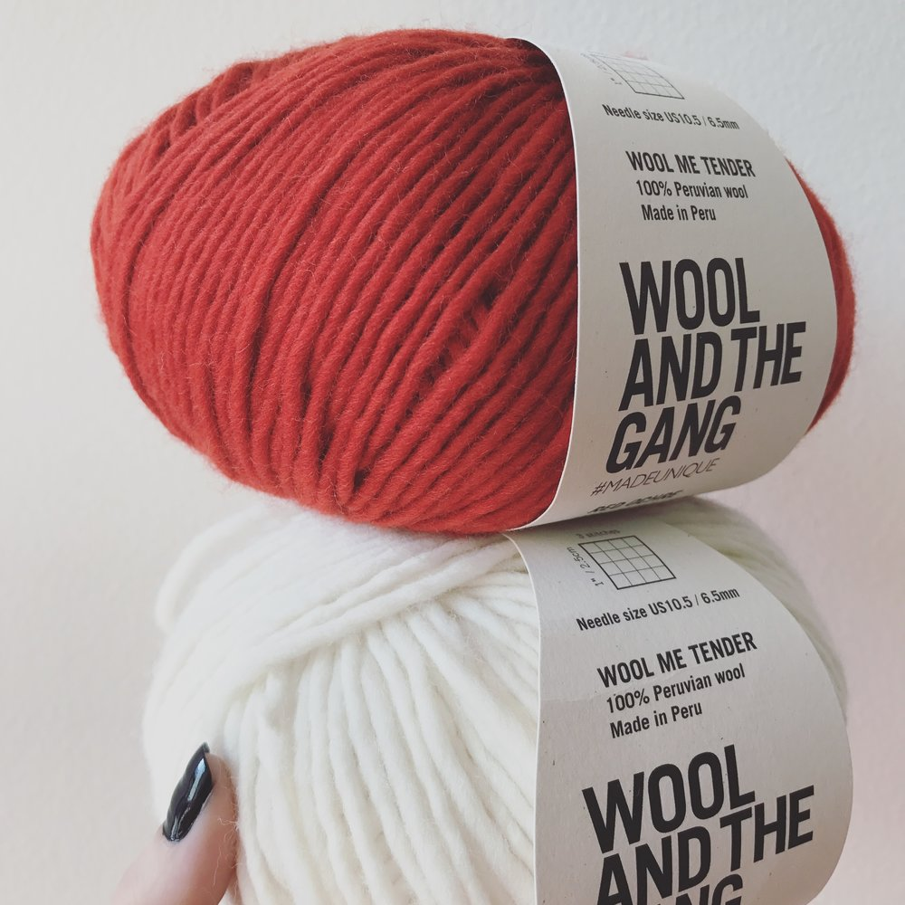 Wool and the Gang, Wool Me Tender, Red Ocher & White Image © Firefly Fiber Arts Studio