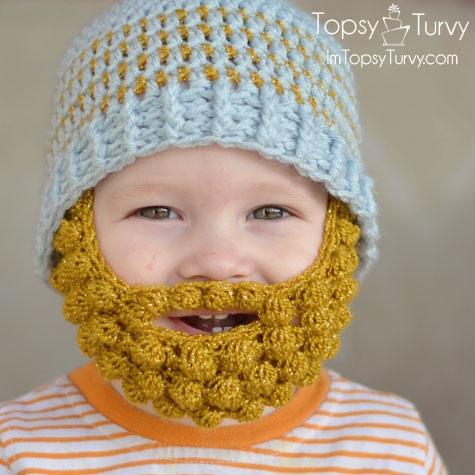 Bobble Bearded Beanie by Ashlee Prisbrey Image © Ashlee Prisbrey