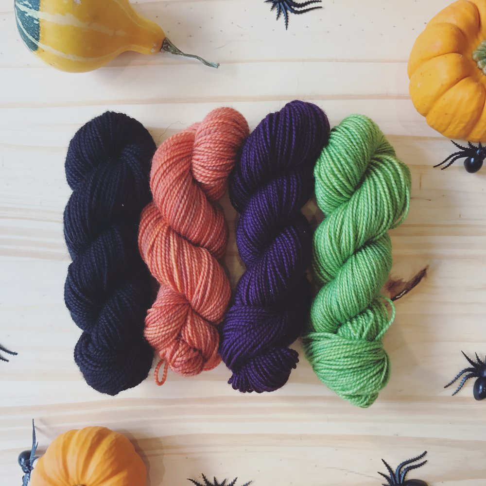 Why Knot, Monster Mash Mini Kit Image © Firefly Fiber Arts Studio