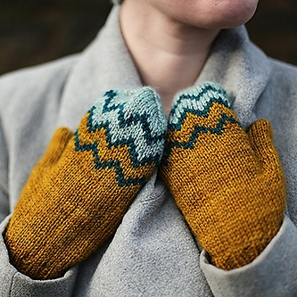 Ridgeline Mittens by Tin Can Knits Image © Tin Can Knits