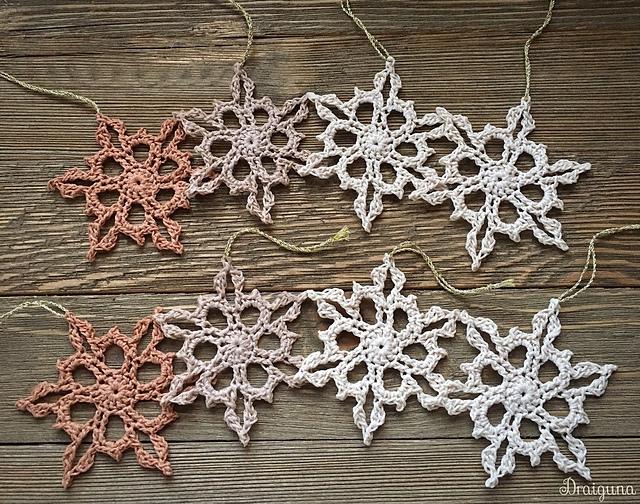 Merrymaker Snowflakes by Julia Hart Image © Julia Hart