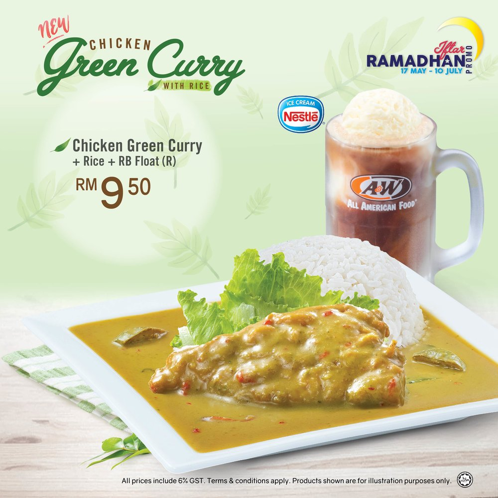 Chicken Green Curry - Introducing our new Limited Time Offer promotion from 17 May 2017