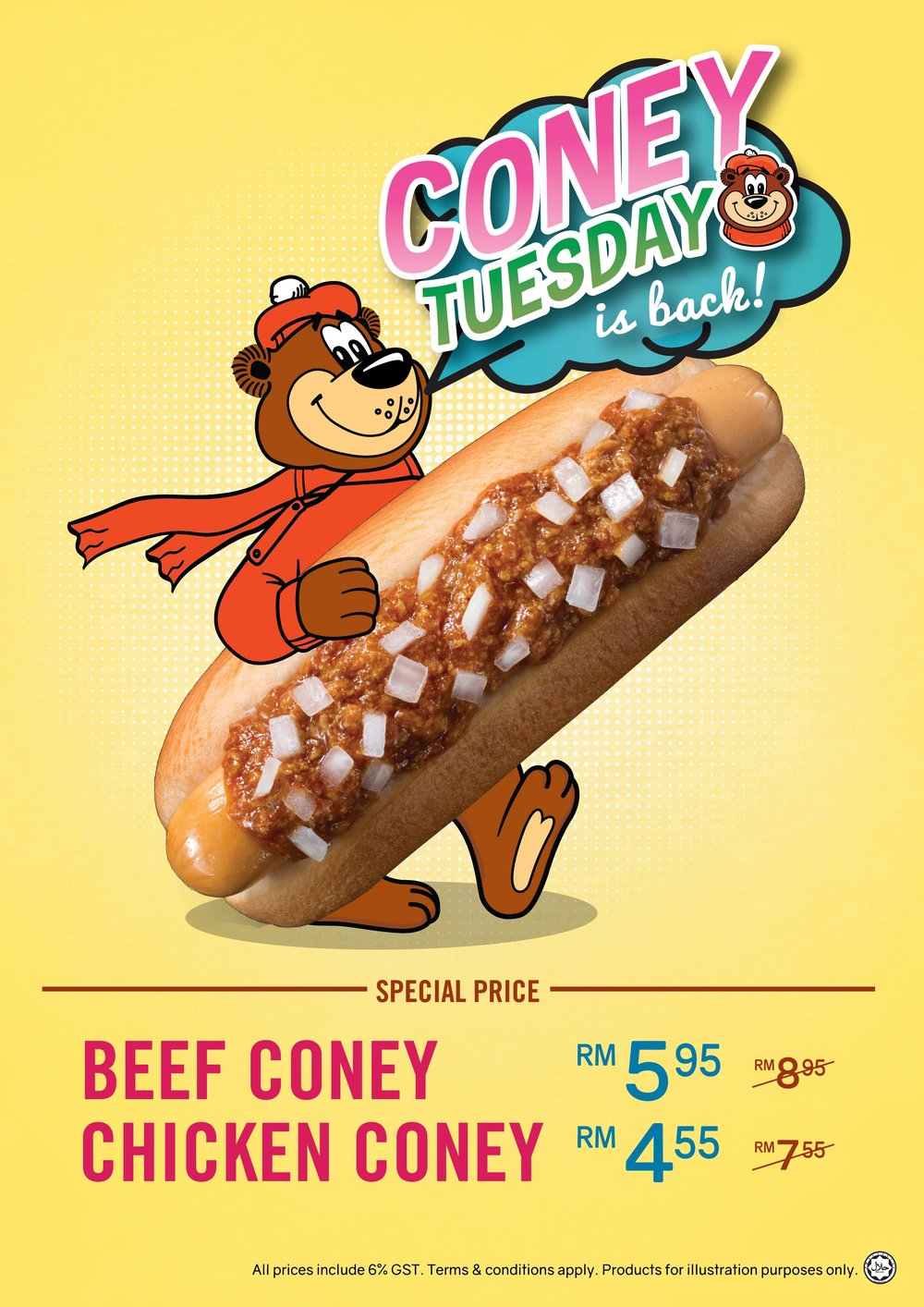 Coney Tuesday - Buy Coney Chicken/Beef with a special price every Tuesday!