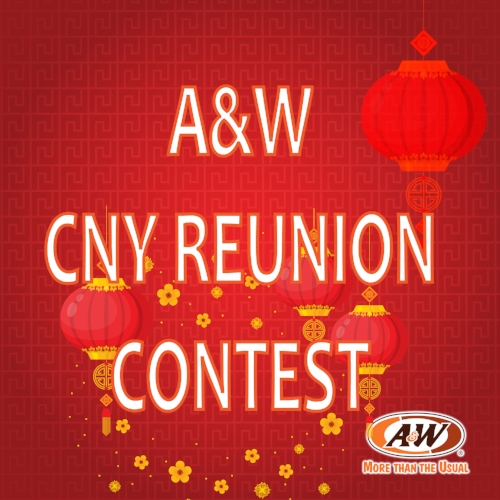 "TERMS AND CONDITIONS  1.  A&W CNY Reunion contest (the ""Contest"") is open to all Malaysian    residents except employees and immediate family members A&W Malaysia Sdn Bhd (the ""Organizer""), their affiliates, subsidiaries, advertising/PR agencies and suppliers.  2.  This Contest runs from 08 February 2018 to 28 February 2018, (""Contest Period"").The Organizer reserves the right to change, postpone, reschedule or extend the Contest Period at any time.  3.  The Organizer reserves the right to substitute the Prize with other items of similar value without prior notice.  4.  The Prizes are not transferable and not redeemable for cash, and must be accepted as offered.  5.  By participating in this Contest, participants agree to be bound by all the Terms and Conditions.  6.  All decisions by the Organizer are final and binding and no further correspondence will be entertained.  7.  The Organizer, in its sole discretion, reserves the right to modify these Terms and Conditions without any prior notice.     WAYS TO PARTICIPATE  1.  Click ""FOLLOW"" to become a follower of A&W Malaysia - Official Instagram account.  2.  To be eligible for winning, participants must follow the steps below:  (i) Dine-in with your family/friends at any of our A&W outlets in Malaysia.  (ii) Record a video of of the group or wefie with the group (group photo).  (iii) The funnier/more creative/wackier your video/photo, the higher your chances of winning!  (iv) Caption your video with the hashtag #AnWCNYReunion, and make sure your post can be viewed by 'Public'.  3.  Participants can send in as many entries as possible during the contest period, however, each participant is only entitled to win once during the contest period.  4.  Contest ends as of 11.59pm, 28 February 2018.  5.  The organizer reserves the right to reject any incomplete or late entry."