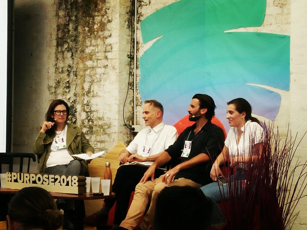 From left to right: Jo Scard (Fifty Acres), Andy Marks (ABC's War on Waste), Tim Silverwood (Take 3 For the Sea), Eliza Reilly (Growing Up Gracefully, ABC1).