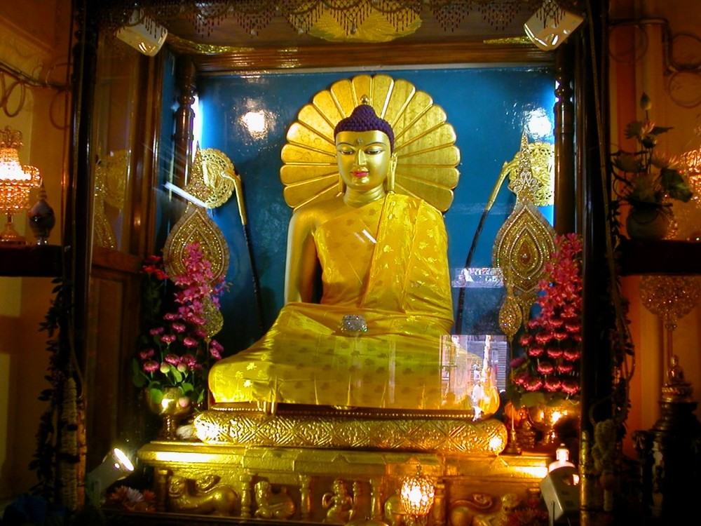 Inner shrine of the Maha Bodhi Temple