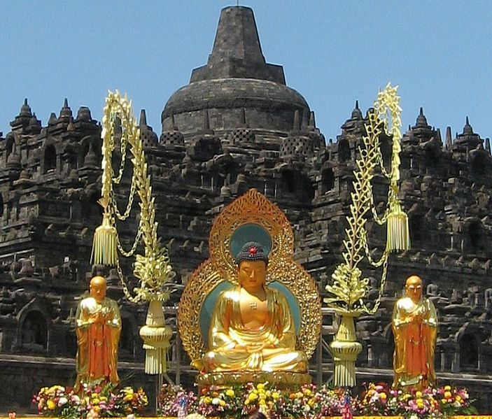 Wesak celebration at Borobudur Temple, 2015