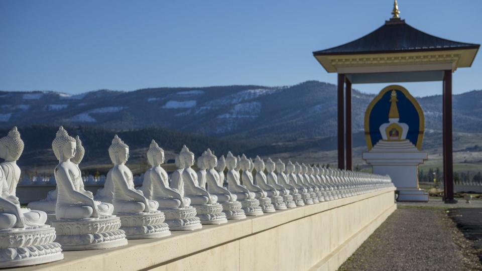 Dharmachakra-spoke at Ewam Buddha Garden