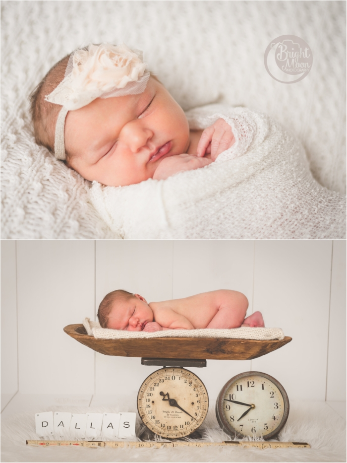 Bright moon photography baby dallas newborn baby girl
