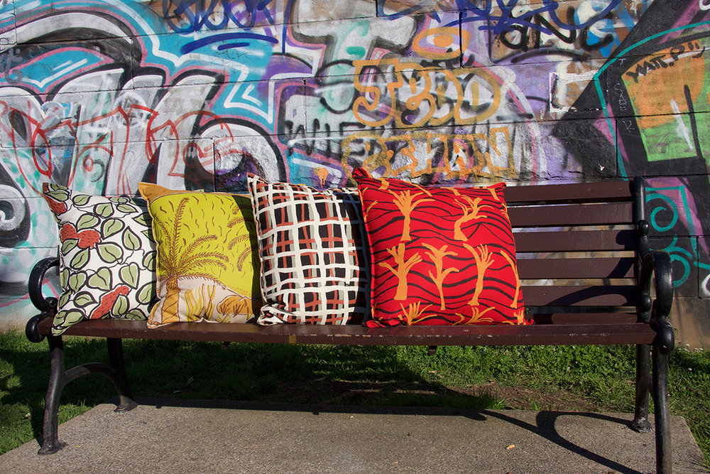The cushions we have designed from Hopevale's art