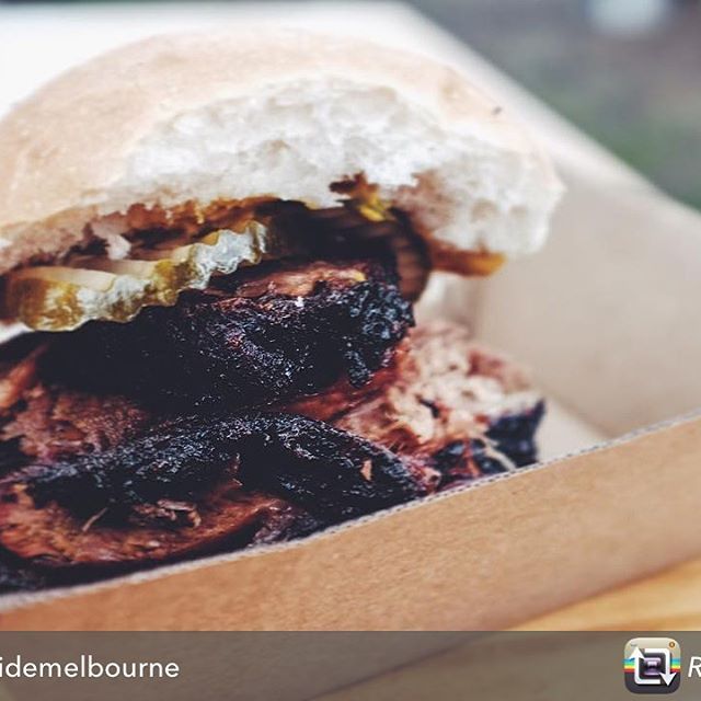 Thanks @southsidemelborne ! Looks like another happy landing!  Repost from @southsidemelbourne using @RepostRegramApp - BURN CITY // this mobile food truck is dishing up 14 hour smoked brisket burgers that eradicate hangovers and ease you into the weekend over @hankmarvinmarkets  This delicious treat is jam-packed with juicy brisket, tangy BBQ sauce, mustard and some savoury pickles. Drool inducing is an understatement! 😌😍 @burncitysmokers #burncitysmokers #hankmarvinmarket #brisket #bbq #melbourne #melbournelife