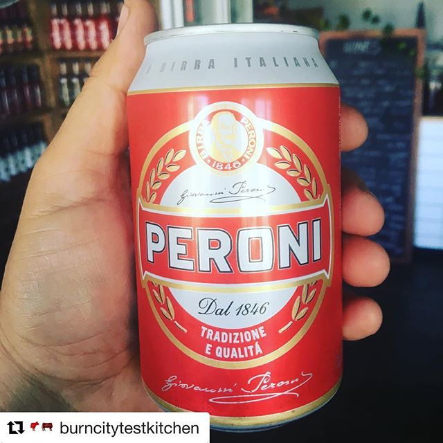 #Repost @burncitytestkitchen with @repostapp ・・・ Peroni 'Red' cans.  The VIctor Bravo of Italy.  5 bucks all day, every day. Burn City Test Kitchen open from 5pm Wednesday (yes Wednesday!) to Saturday every week. #burncitytestkitchen #burncitysmokers #bbq #bbqandbeers #peroni #tinnie #5buckbeers #southkingville #melbourne #melbournelife