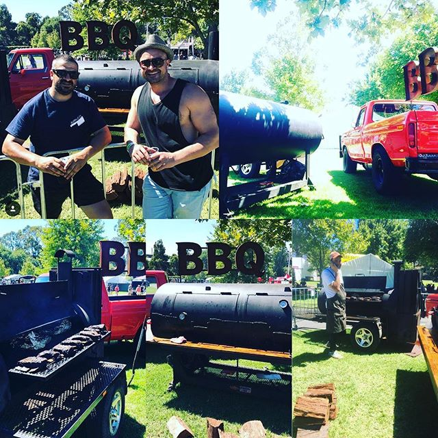 Some shots from the weekend @bbqfestau  Even Chris Terlikar from @bluebonnetbbq was worshipping at our smoke altar! Now we bring the show up to Sydney this weekend. #burncitysmokers #bbq #ribs #beefribs #melbourne #sydney