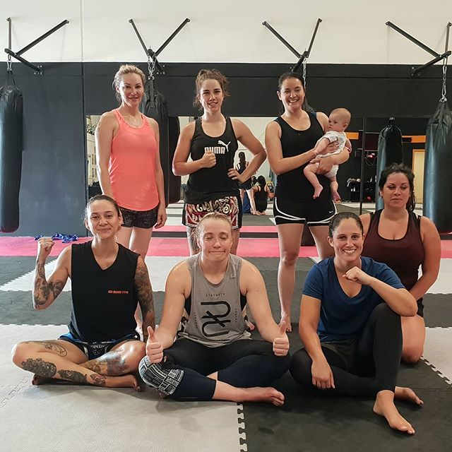 Worked  so hard we cant even keep our eyes open.  Thanks to 6 month Chloe for being an absolute legend and sitting through 1.5 hours of push kick and knee drills like an angel today.  Womens muay thai every Tuesday from 930am. All levels welcome
