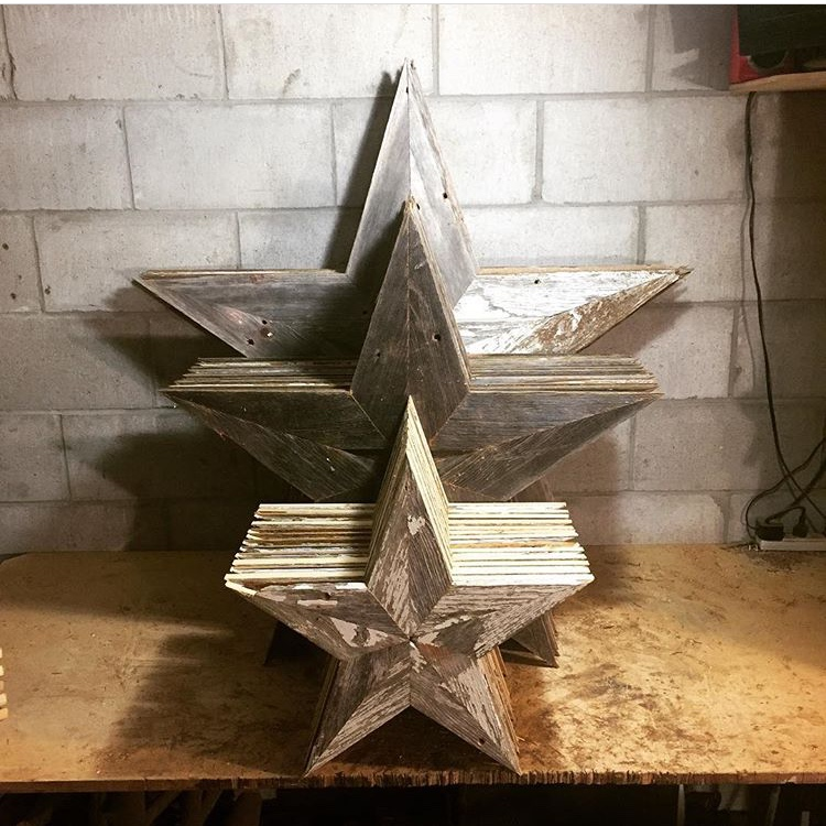 Barn wood Stars - Available in Red, White, or Gray.  Small $15  Medium $27.50  Large $40
