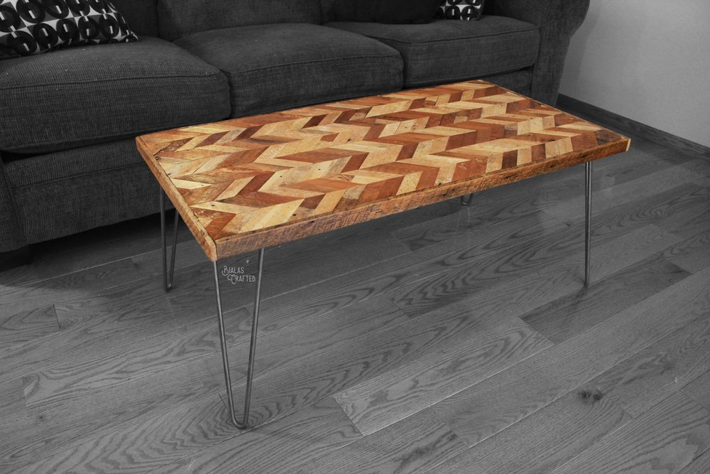 Chevron Coffee table 20x36 $125