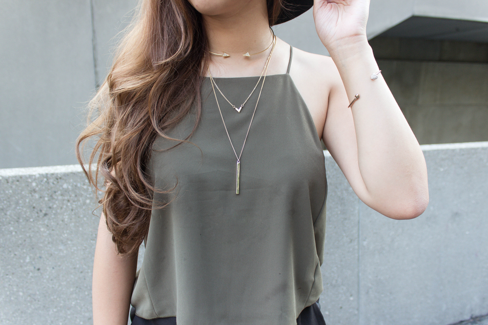 Olive top and asymmetrical shorts-3.jpg
