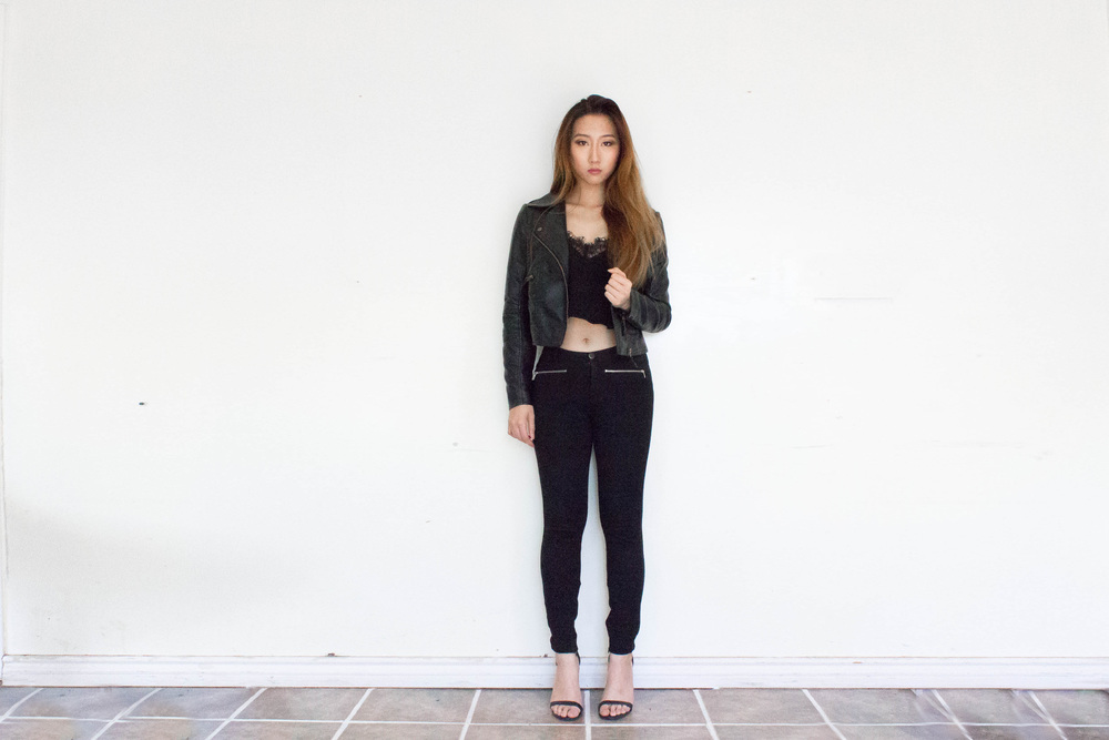 MonicaxGuan black lace tank leather jacket.jpg