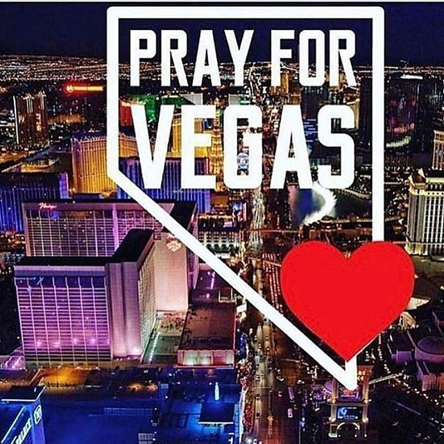 Waking up today to hear about what happened just a few hours ago is truly heartbreaking. It's been nonestop one terrible event after another, our world needs healing. We would like to thank the first responders for their great work. Our thoughts and prayers go out to the victims of this terrible shooting. 🙏😔 #Vegas #prayers #prayfortheworld #vegasattack